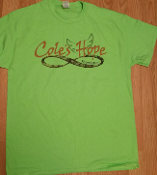 Cole's Hope t-shirt Lime